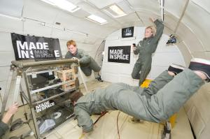 3D printer being tested in zero G. Photo: http://www.madeinspace.us