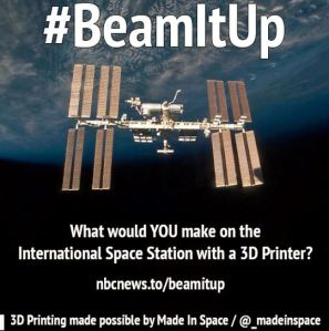 Made In Space is the company behind 3Dprinting on the ISS.