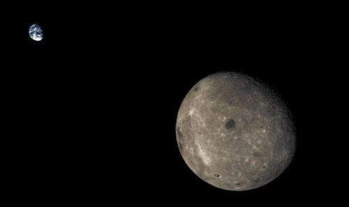 Image from China's moon flyby probe.