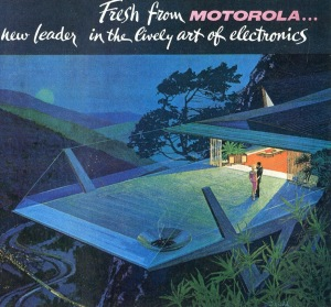 1961 illustration by Charles Schridde showing Motorola's