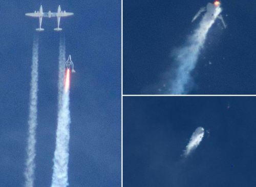 Virgin space plane breaking up