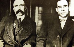 Nicola Sacco left and Bartolomeo Vanzetti.