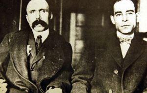 Nicola Sacco left and Bartolomeo Vanzetti.