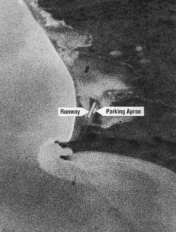 First image taken by a US spy satellite CORONA (Wikicommons)