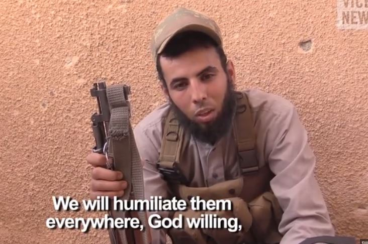 Islamic State fighter - the violent jihadist