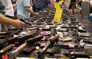 Gun show in Texas (courtesy: http://flickr.com/photos/glasgows/)